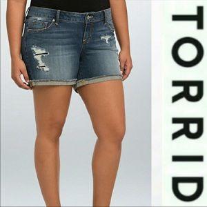 18  jean shorts by Torrid  Distressed  euc